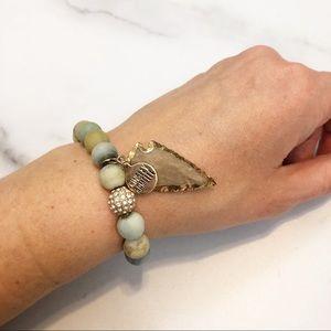 Kinsley Armelle Jasper arrowhead solar bracelet
